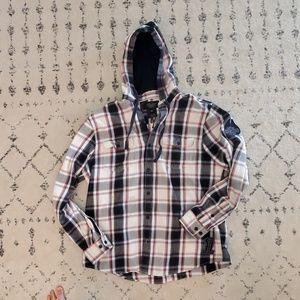 Harley davidson hooded flannel